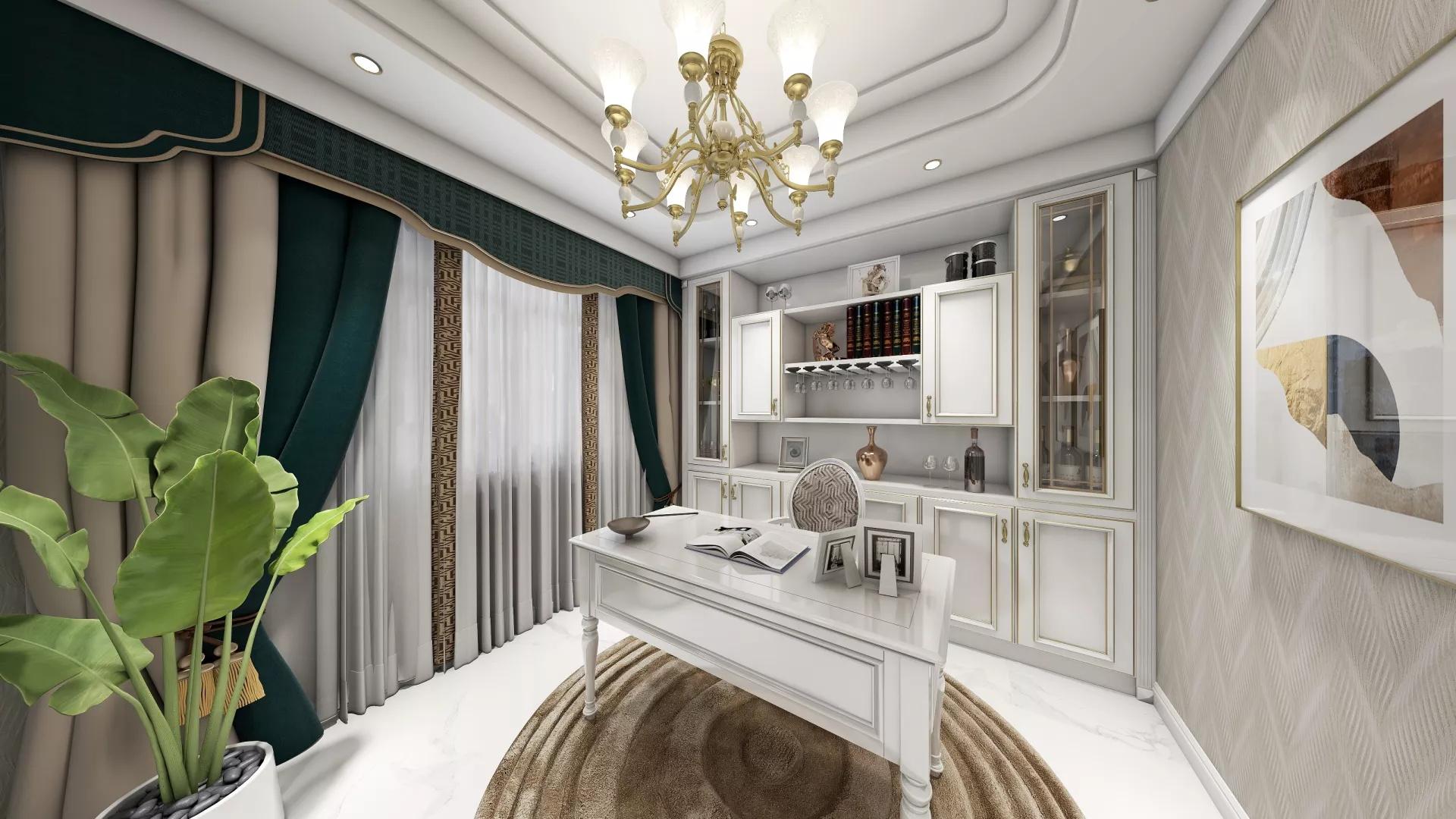一居室美式风格卧室装修效果图