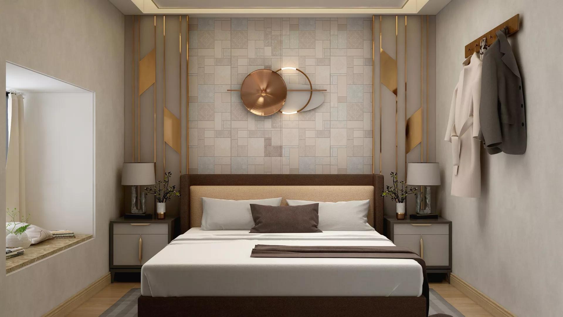 一居室简约风格卧室装修效果图