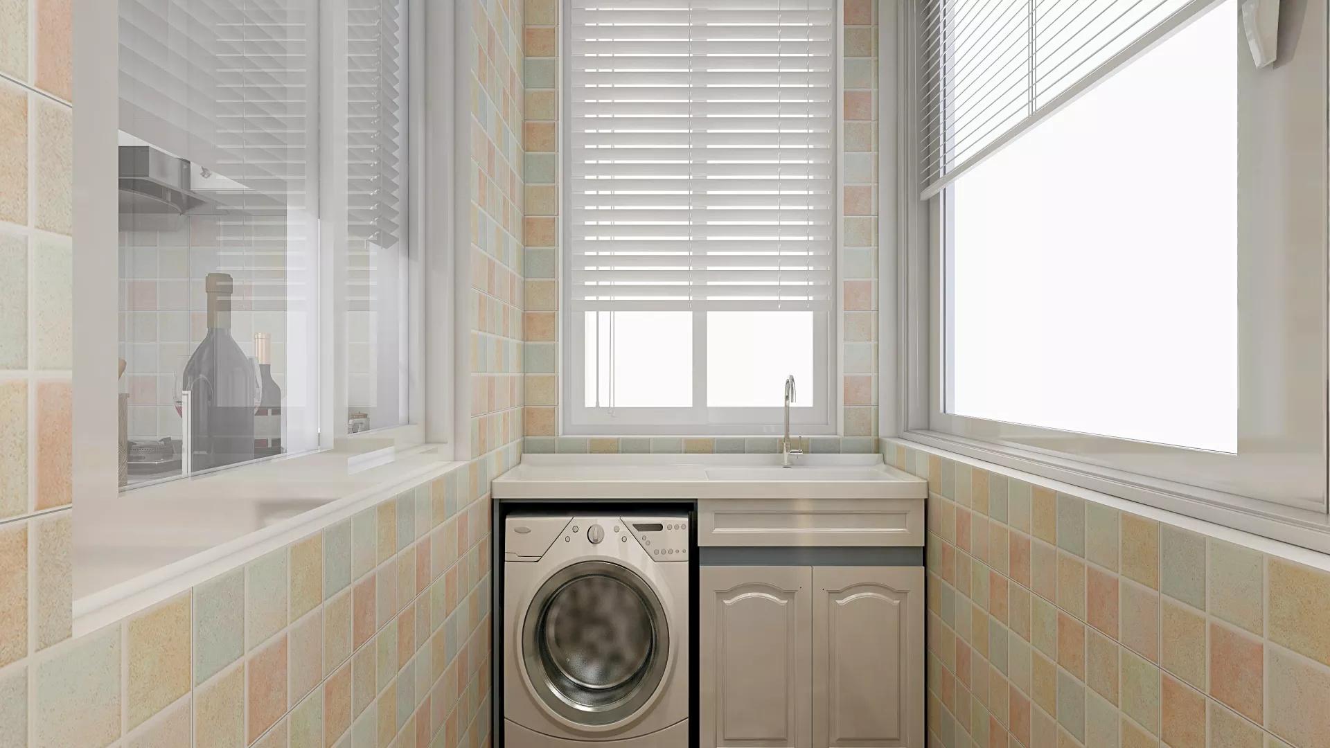 现代60平地中海风格一居室装修效果图
