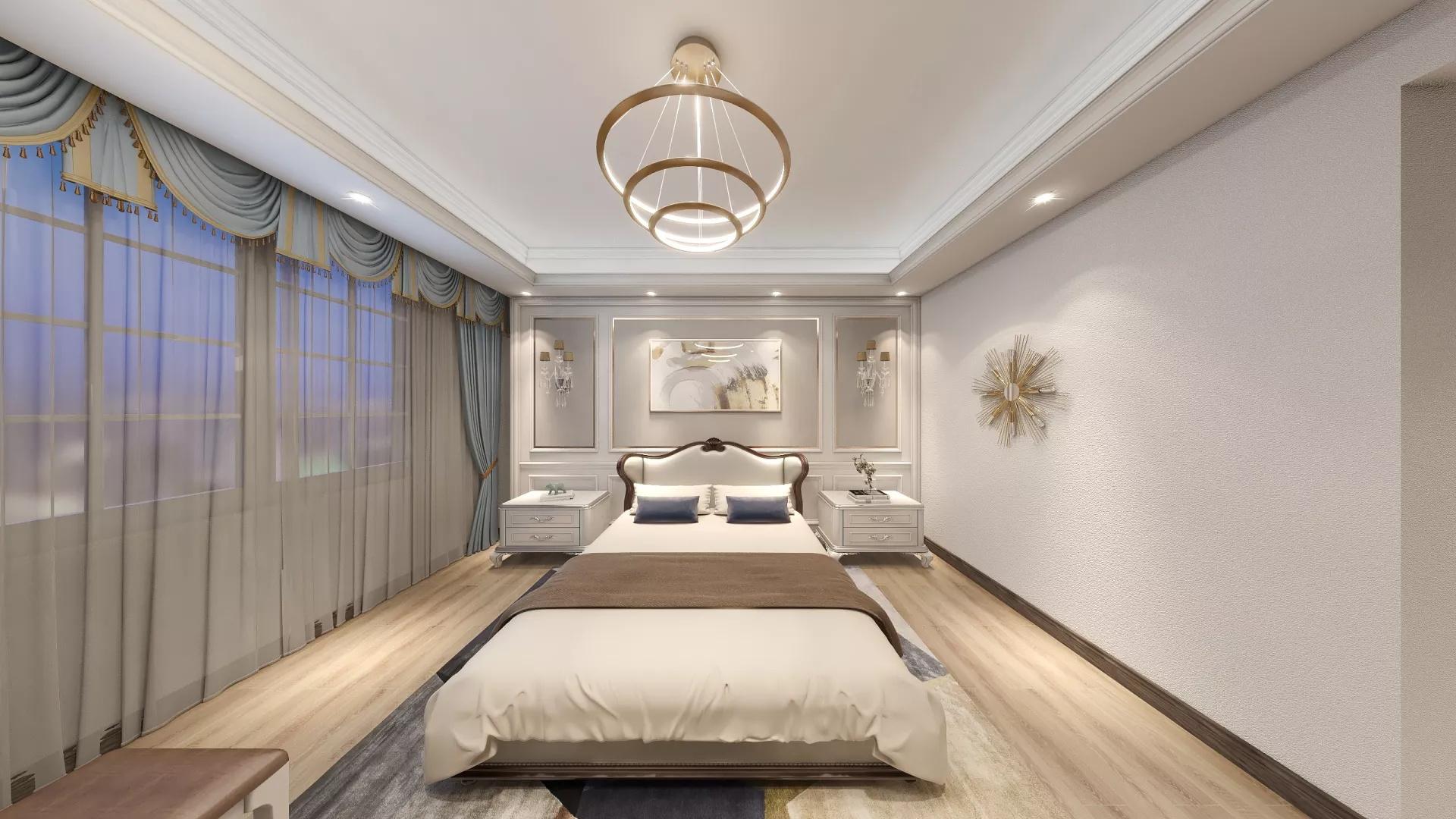 餐厅,三居室装修,中式风格,灯具,餐桌,简洁