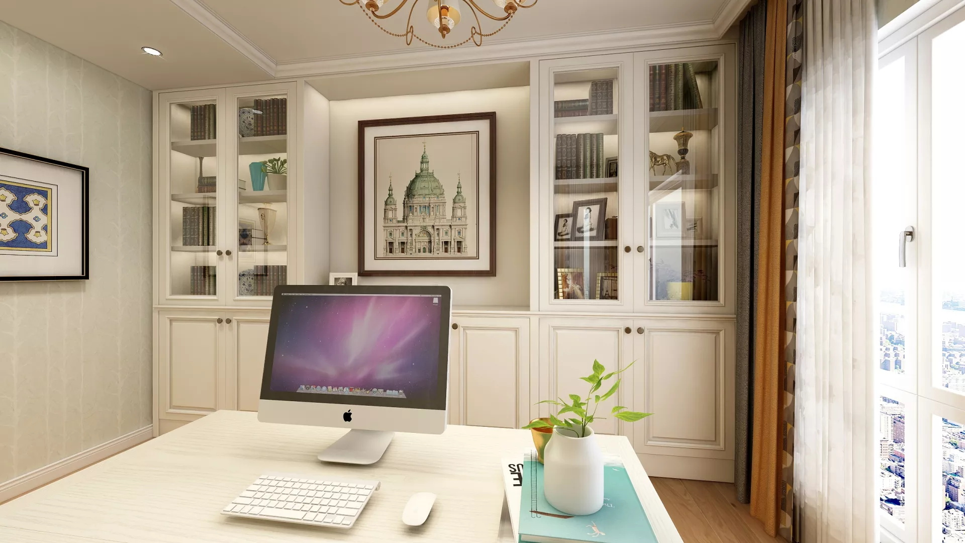 客厅,三居室装修,中式风格,沙发,灯具,茶几,简洁