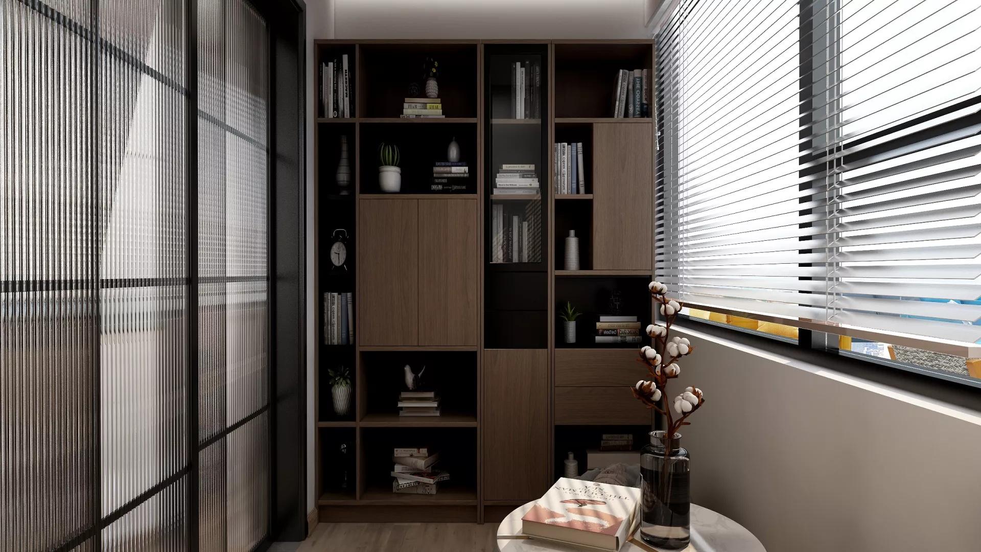 典雅新中式两居室装修效果图