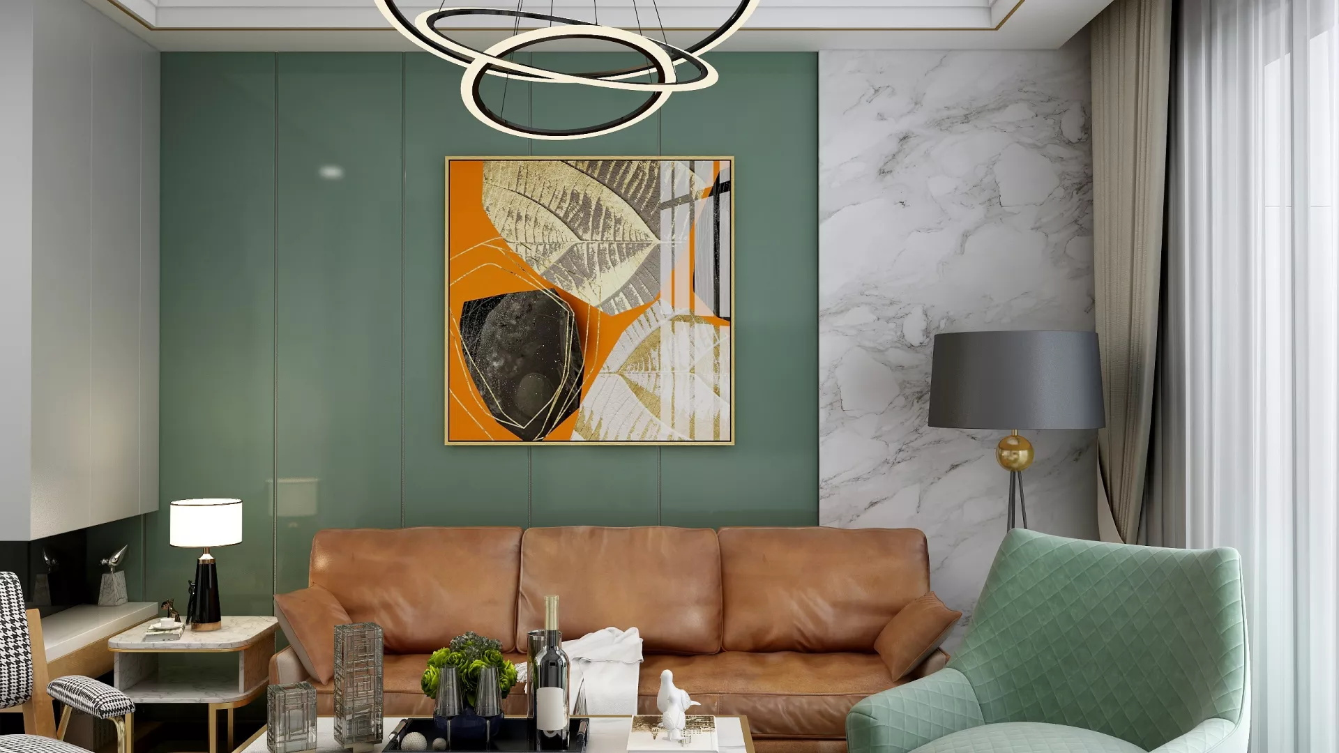 别墅装修豪华型客厅沙发装修效果图