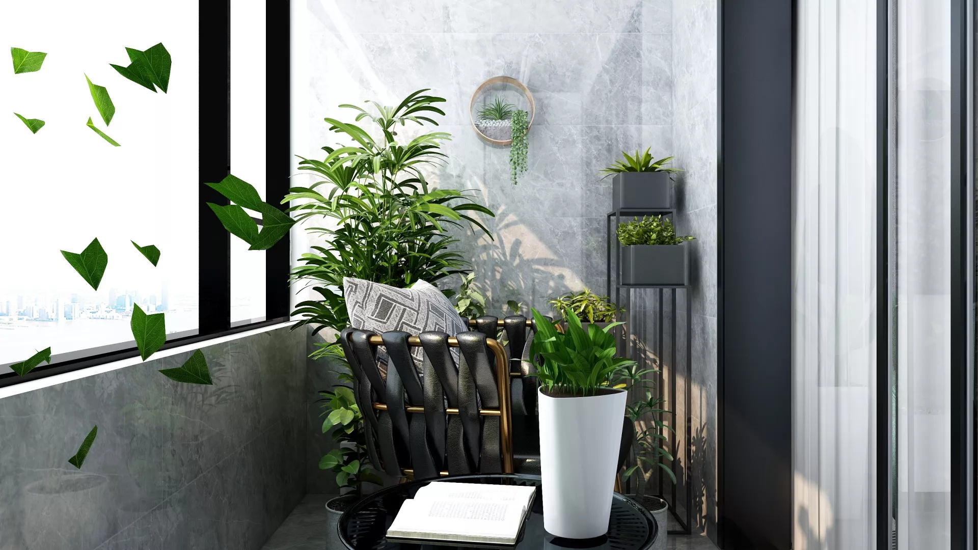 90平米两居室简约型客厅装修效果图
