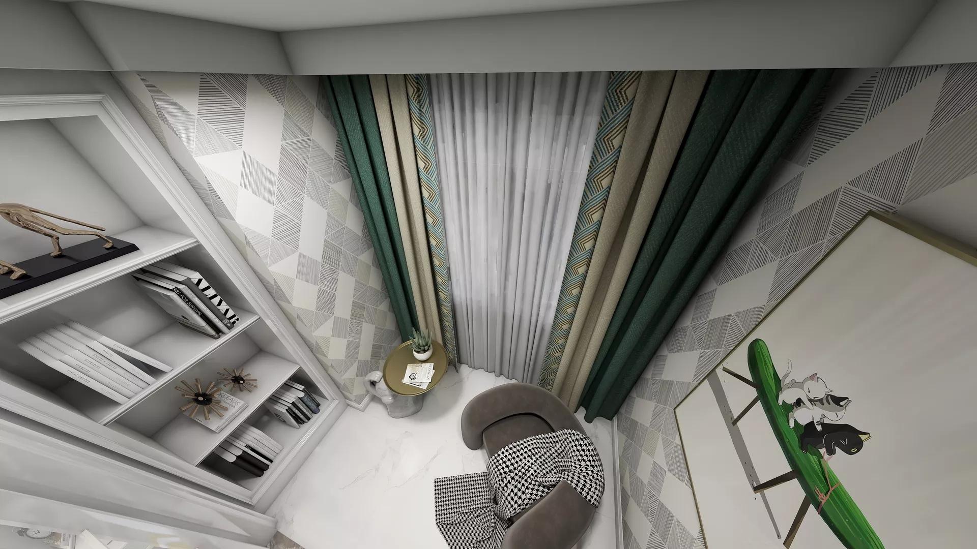 田园风格舒适小清新客厅装修效果图