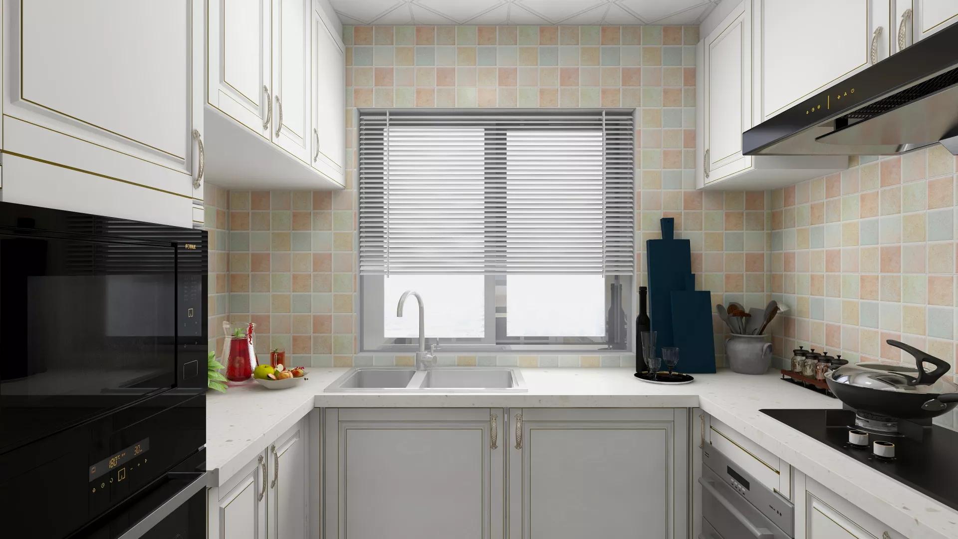 简洁暖色系风格卫生间装修设计效果图