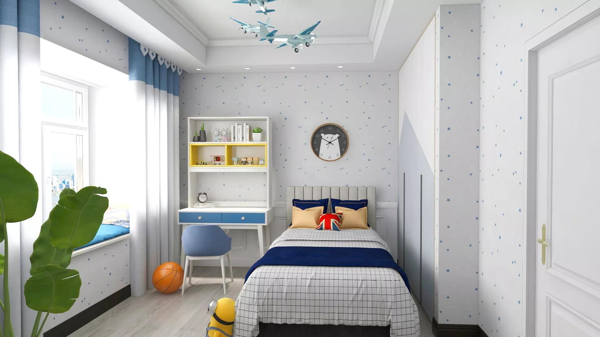 58㎡小户型实用清新客厅装修效果图