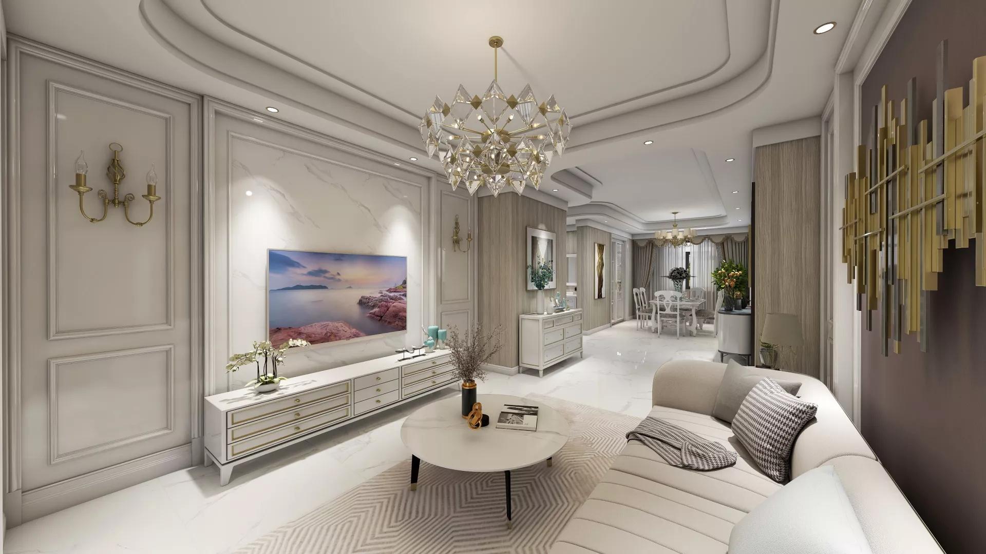 客厅,时尚,大气