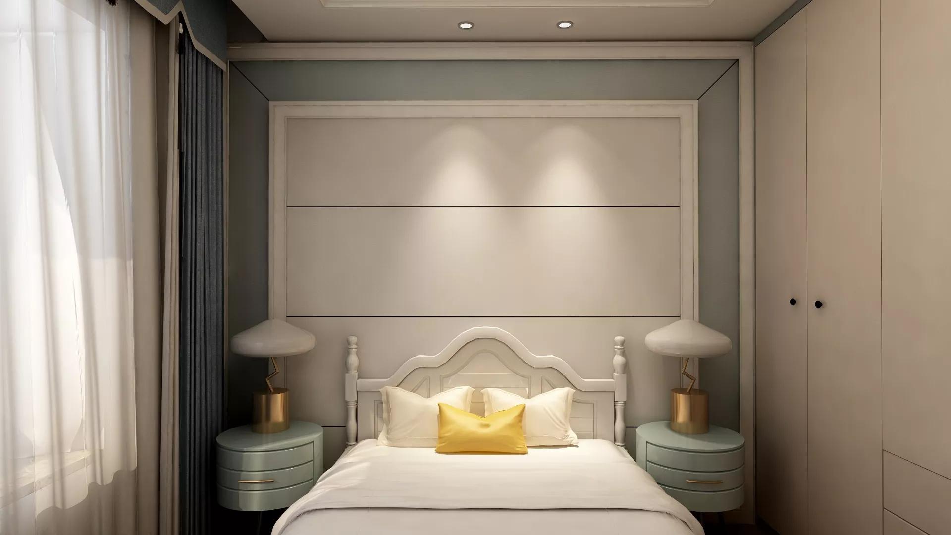 卧室,简约风格,灯具,床,简洁,舒适