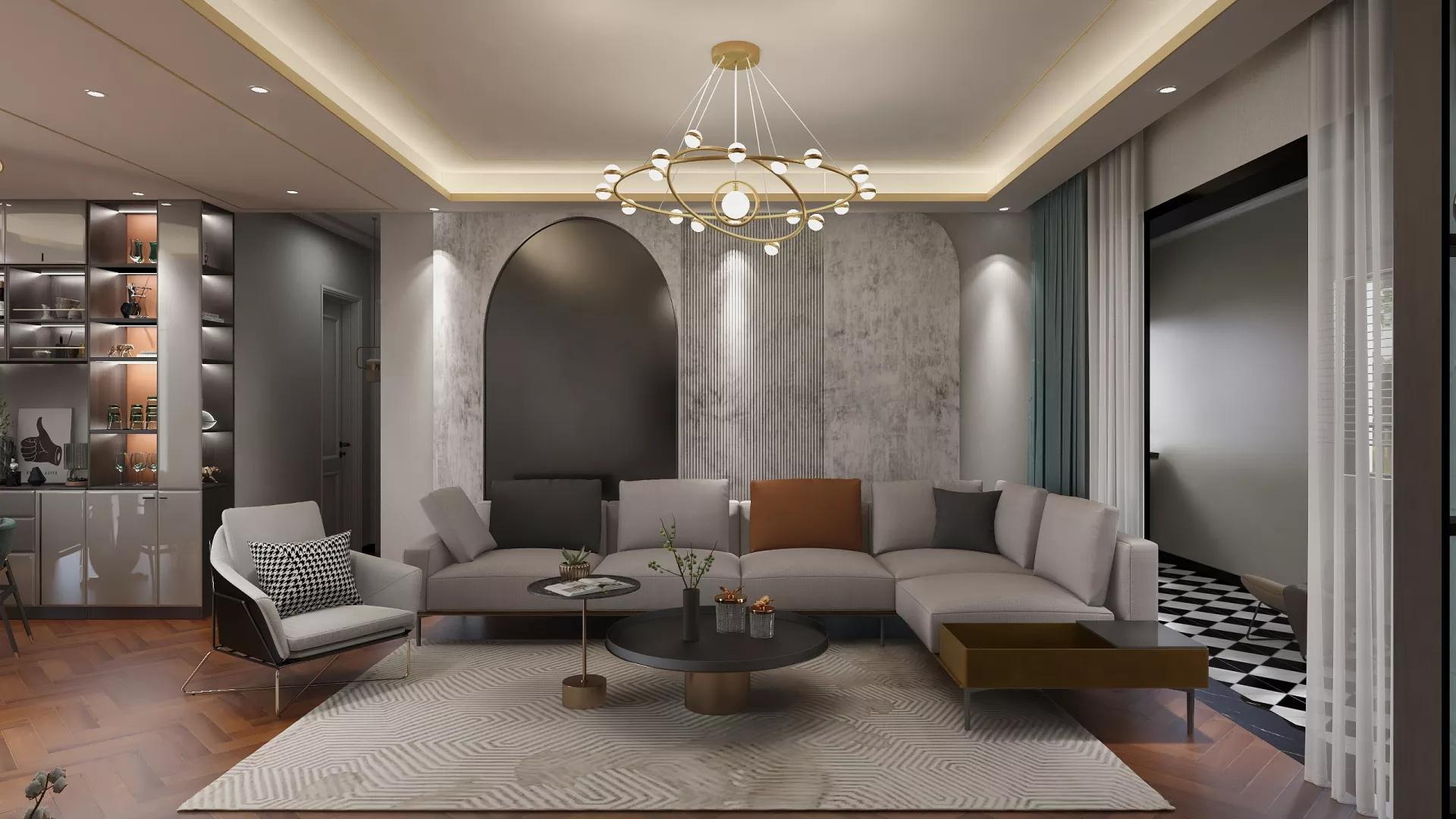 白色简洁现代风格厨房橱柜设计