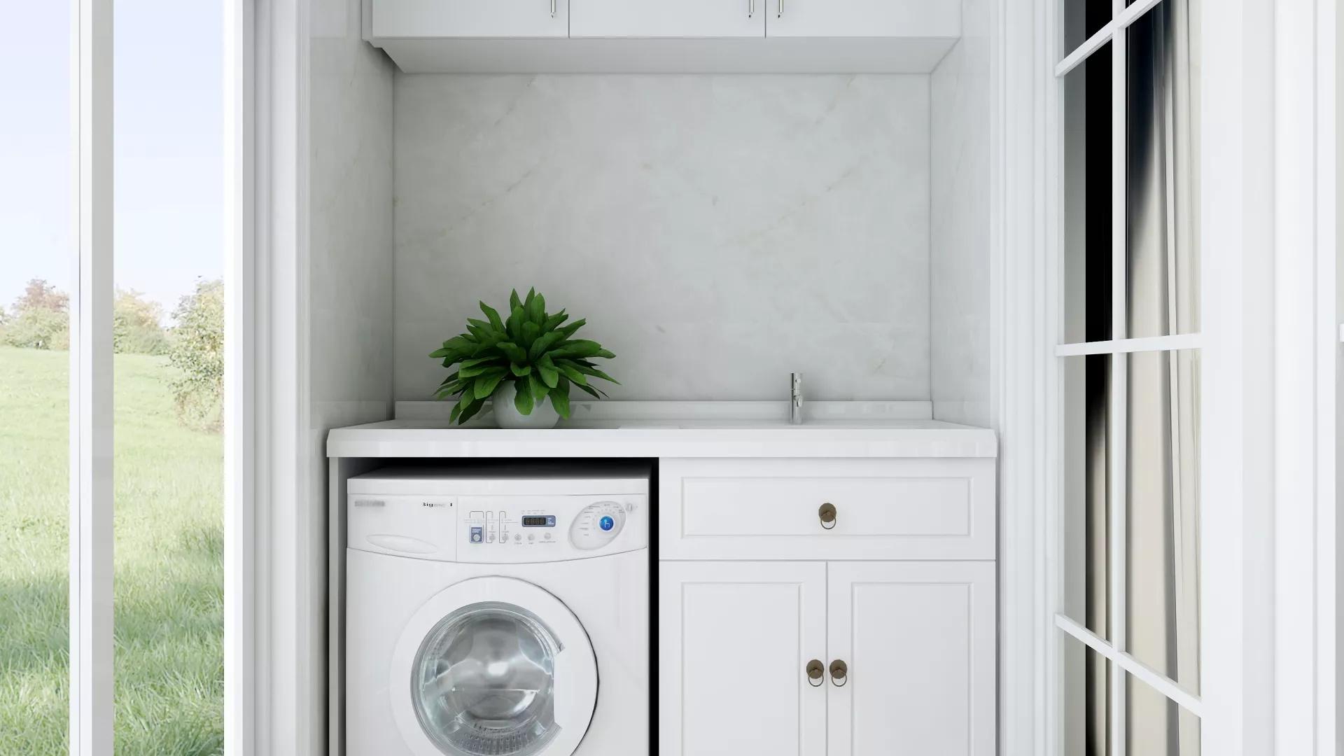 70㎡简约时尚绿植搭配客厅设计效果图