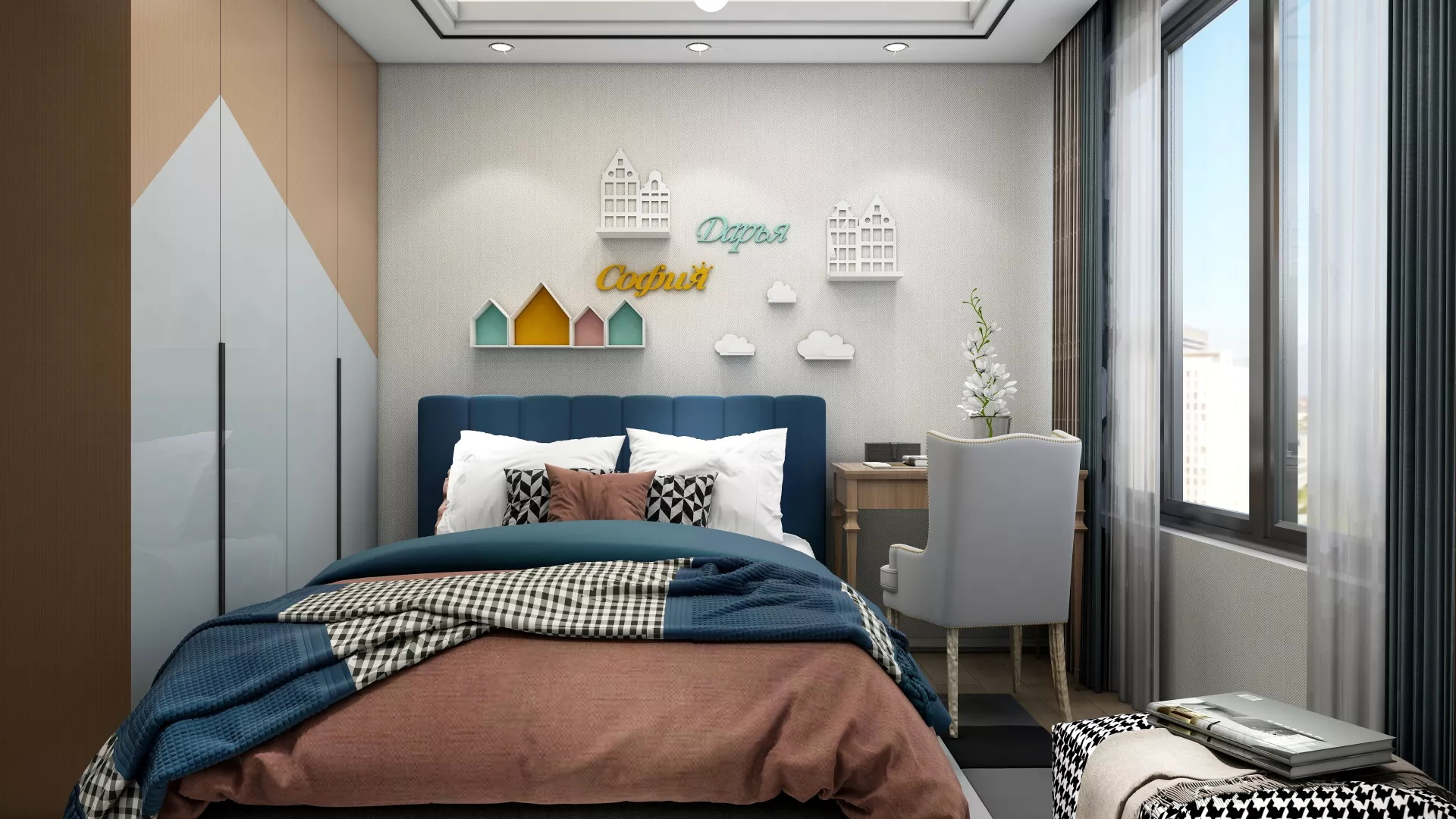美式乡村风格舒适型客厅装修效果图