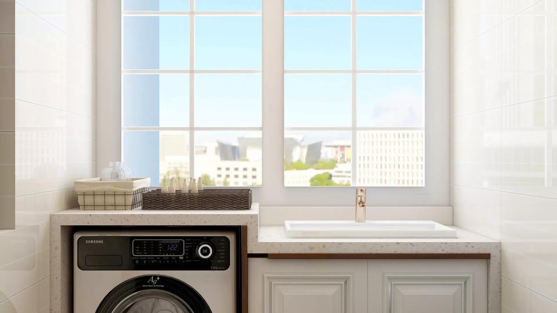 75㎡小户型美式风格实用客厅装修效果图