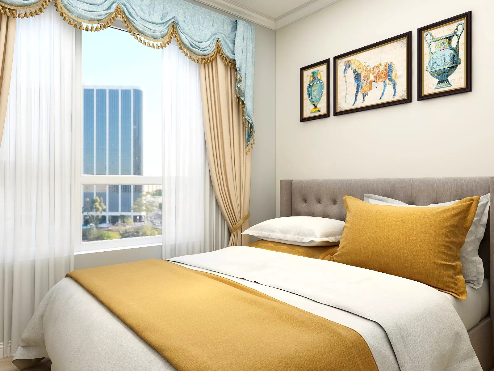 宜家风格实用简洁型客厅装修效果图