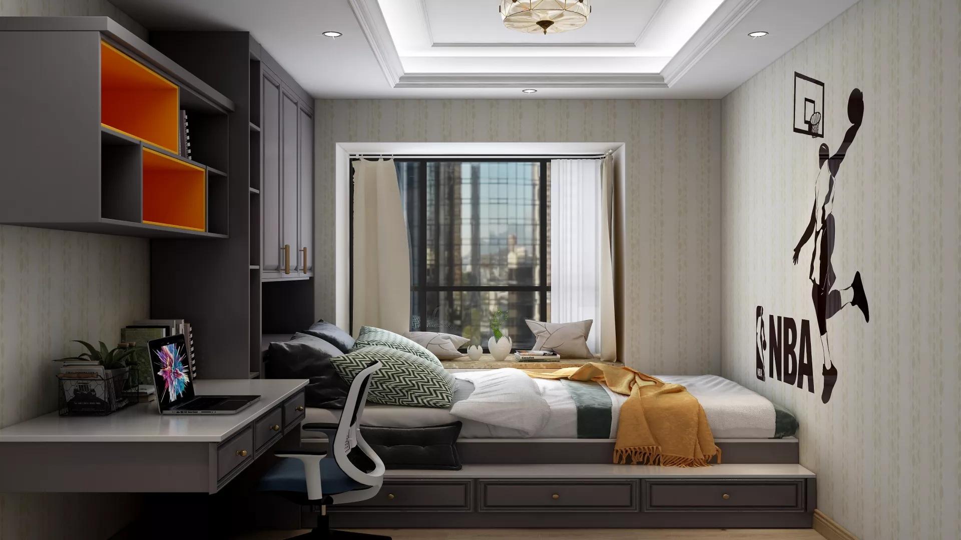 日式风格两居室原木色装修效果图
