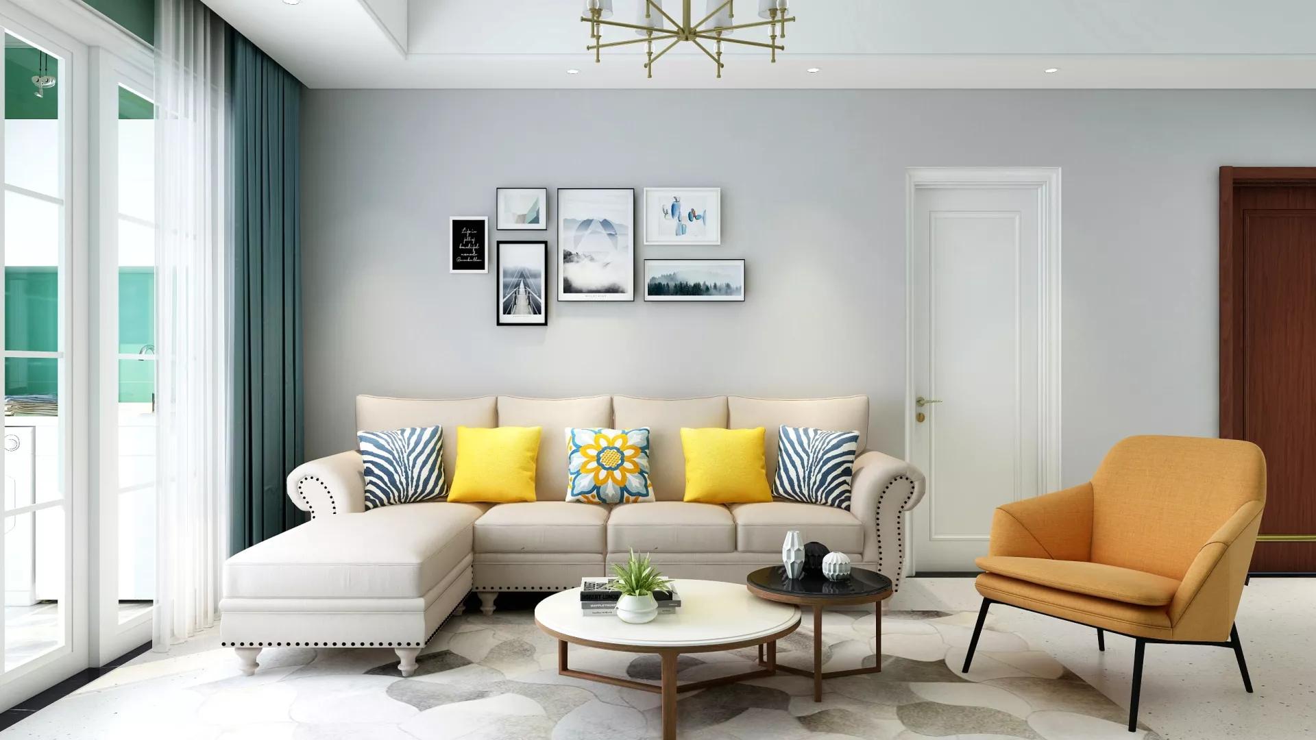 时尚自然韵味宜家风格三居室设计装修案例图