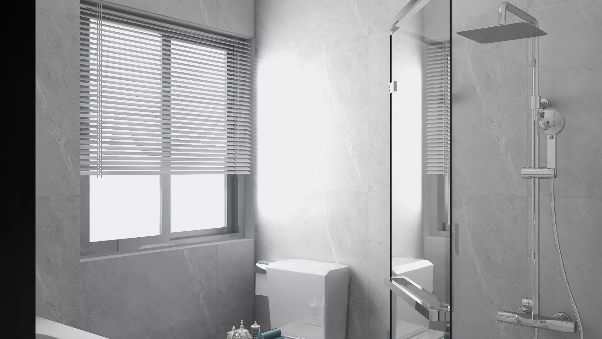 时尚含蓄典雅新中式小二居客厅卧室厨房设计效果图