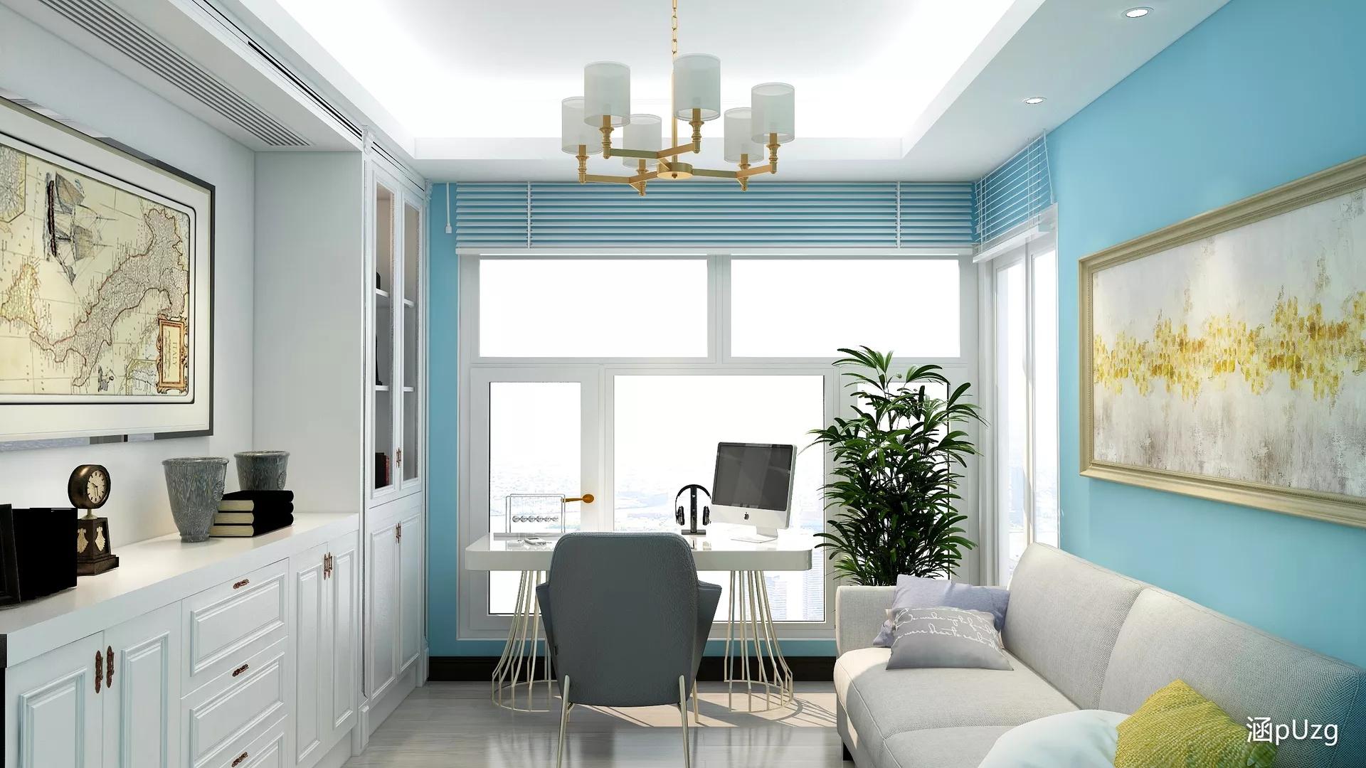 白色大气厨房吧台设计