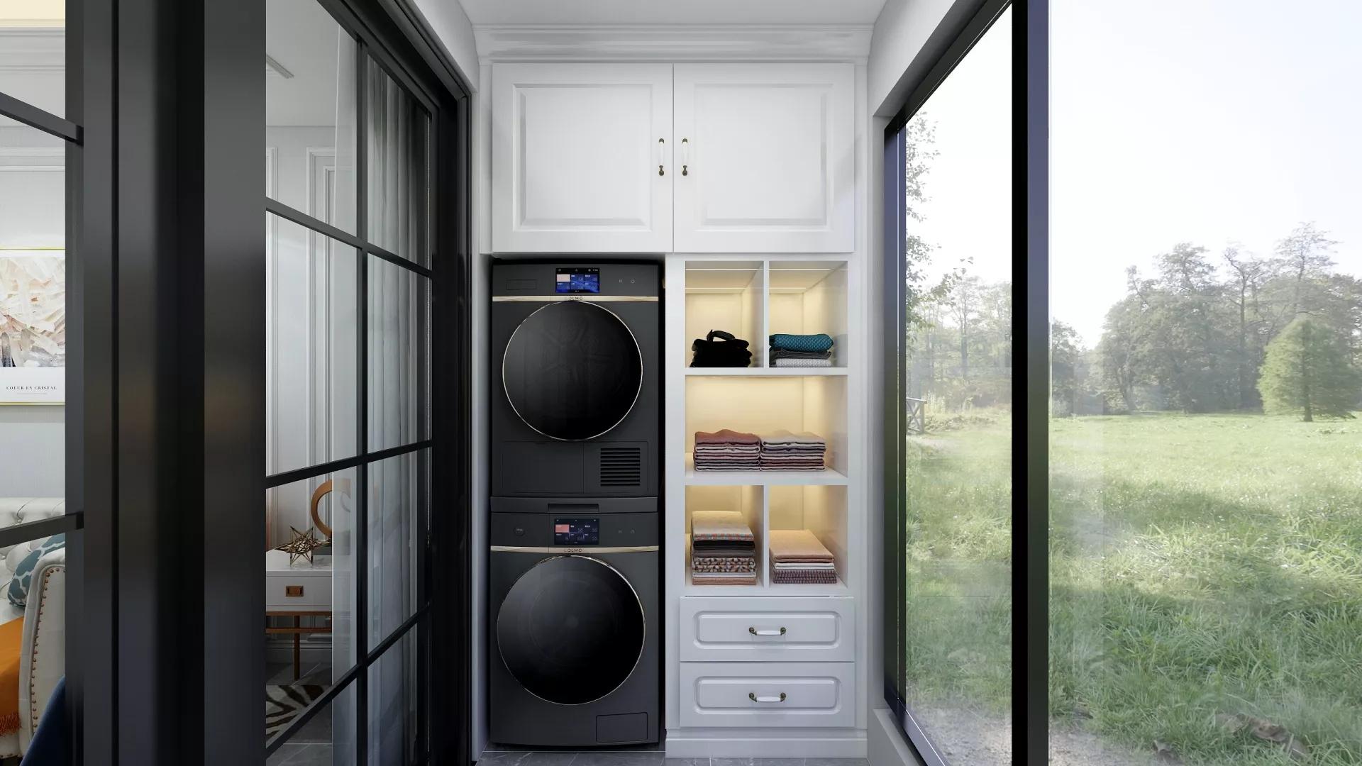 温馨现代简约小户型卧室客厅厨房装饰设计图