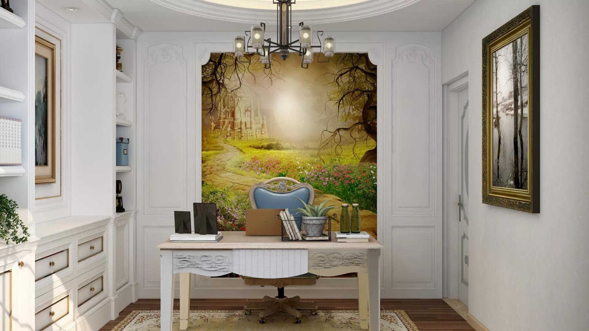 素净宜家新中式118平三居室装潢欣赏图