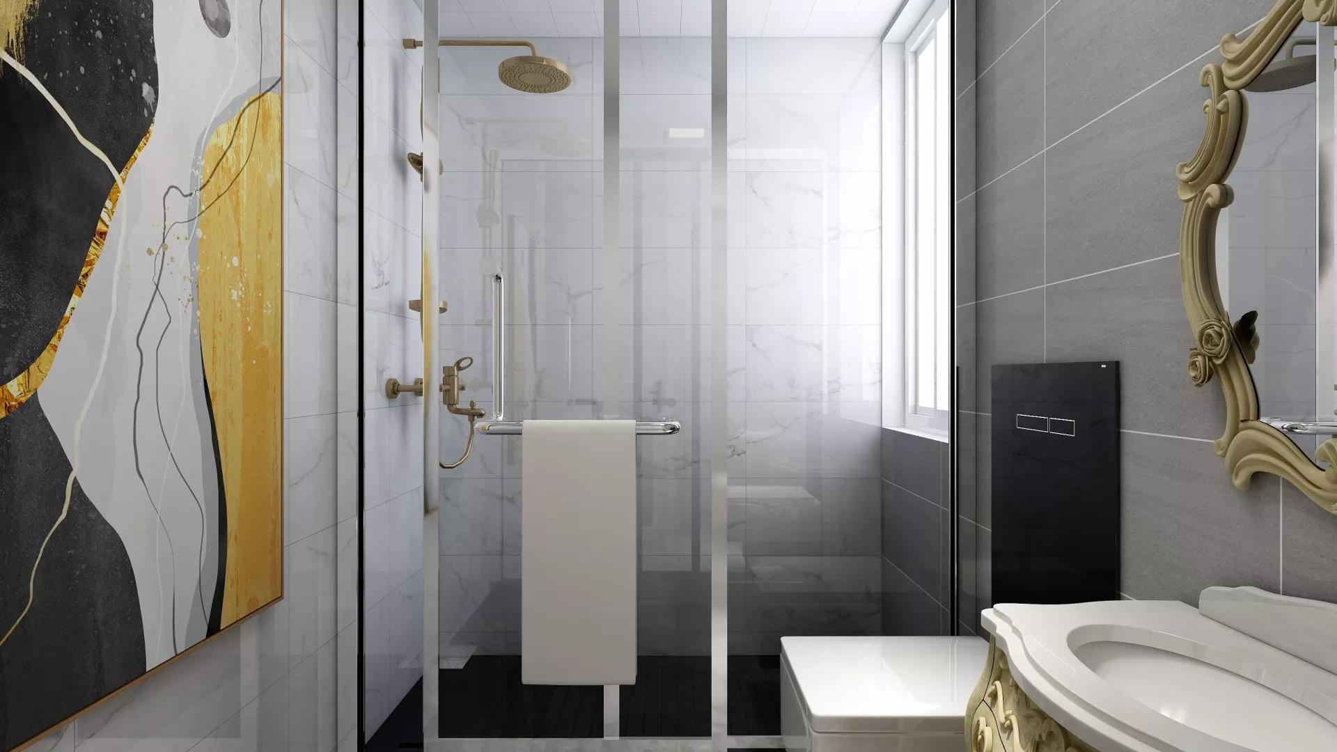 70㎡现代简约宜家风格二居室装修效果图