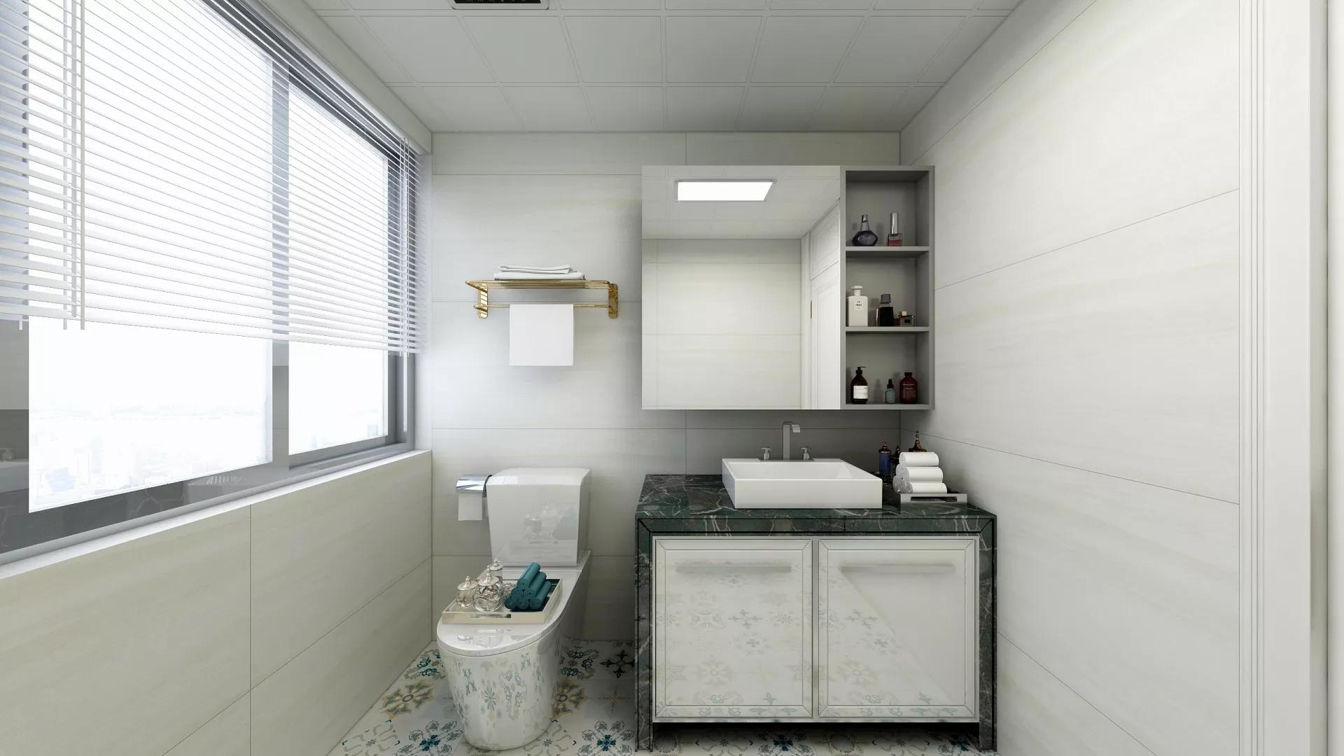 简洁白色风厨房吧台设计