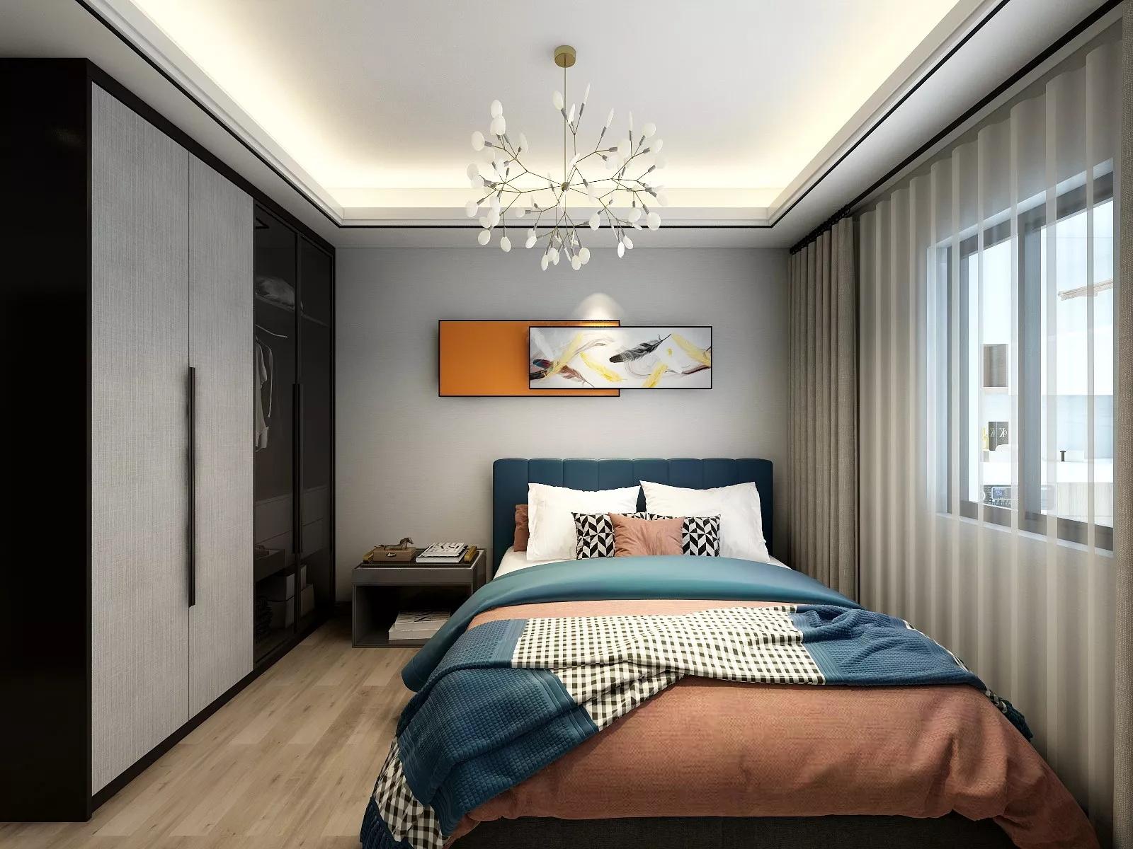 大户型简约风格美式装修客厅布置效果图