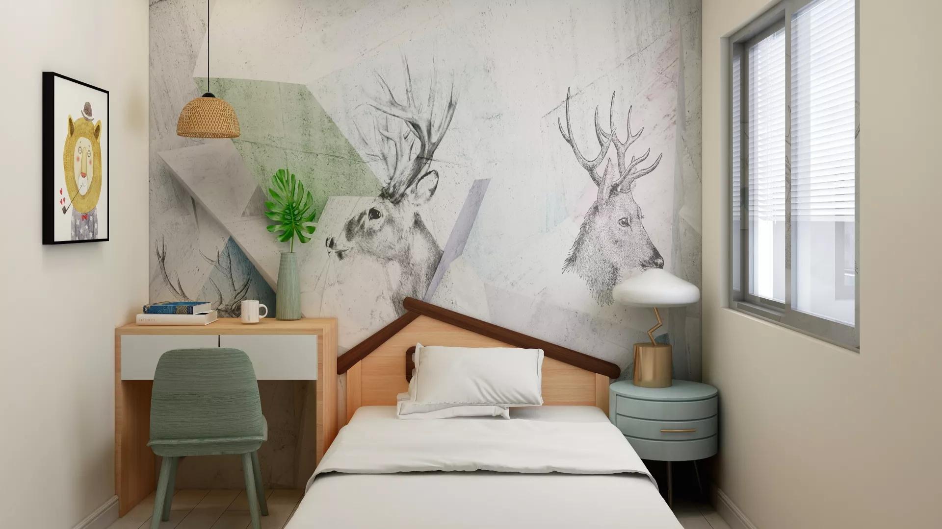 大户型别墅装修奢华美式风格家居设计效果图