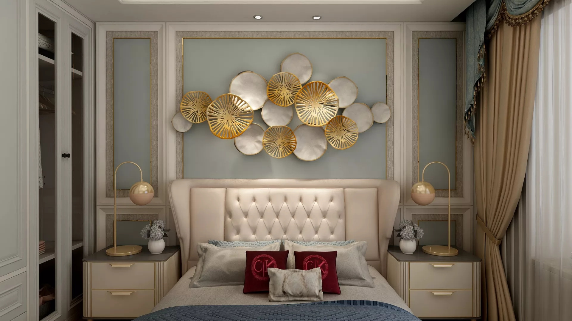 简洁大气风格客厅装修效果图