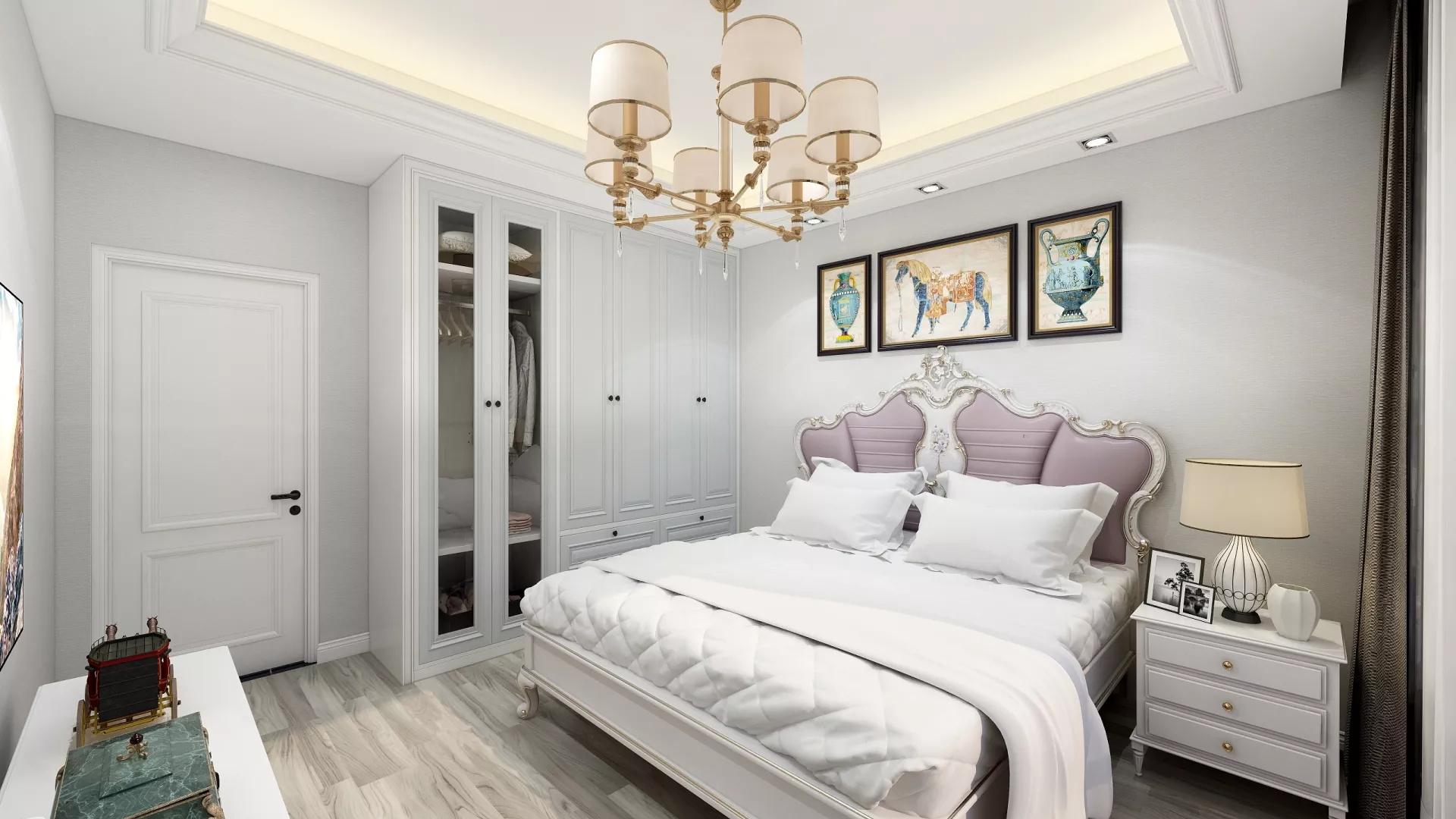 86㎡多彩公寓简约风格装修设计效果图