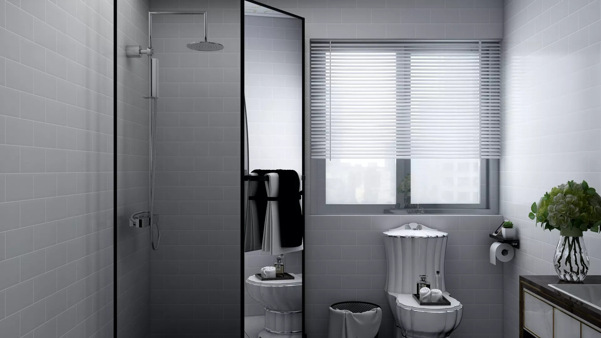 92平后现代简约风格三居室装修效果图