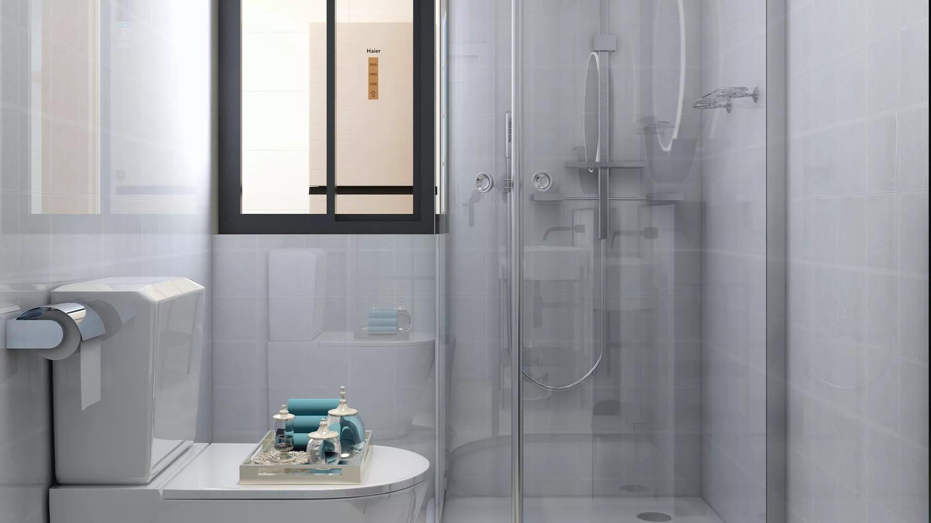 卫生间,简约风格,洗手台,浴室柜,简洁,温馨